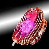 Ventilatore CPU,Raffreddatore di ventole Supersonic CPU con cuscinetto idraulico universale per computer desktop