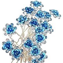 40 STK piratería. Flores Brillantes Horquillas horquillas perlas Cabello joyas para ...