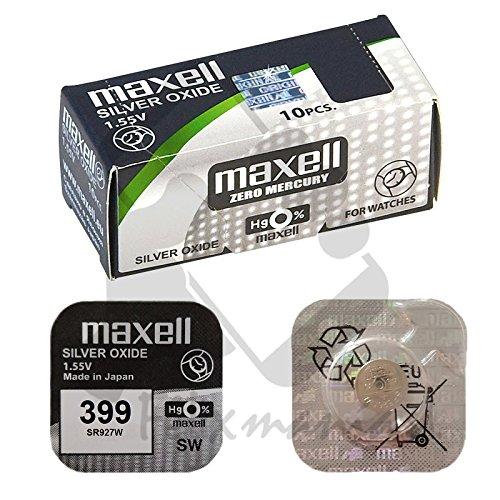 1 X Pile Maxell Batterie Originale 1,55 V 399 SR927W Boutons Pile Oxyde D'argent Maxell Livraison 48/72H Felixmania®