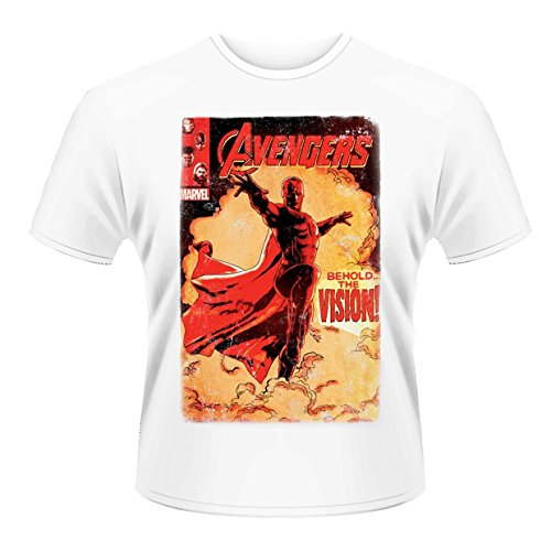 Plastic Head Herren T-Shirt Avengers Age of Ultron Vision Cover, Weiß, XX-Large