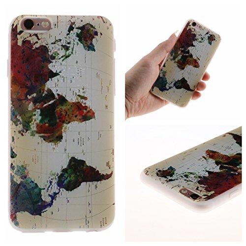 iPhone 6 Plus Hülle, Voguecase Silikon Schutzhülle / Case / Cover / Hülle / TPU Gel Skin für Apple iPhone 6 Plus/6S Plus 5.5(Angry Panda) + Gratis Universal Eingabestift Weltkarte 01