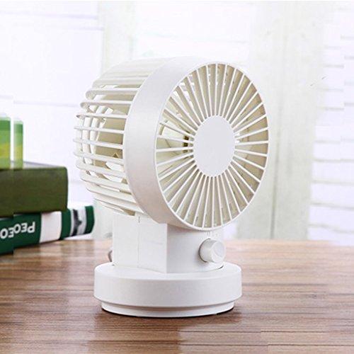 Desktop USB Mini Fan Portable 2 Geschwindigkeit Einstellbare 80 ° Kühlung Home Office Fan ( Farbe : Pink )