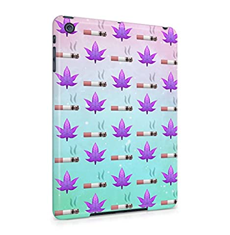 Smoking Cigarette & Purple Leaves Pattern Hard Thin Plastic Tablet Case Cover For iPad Mini 1