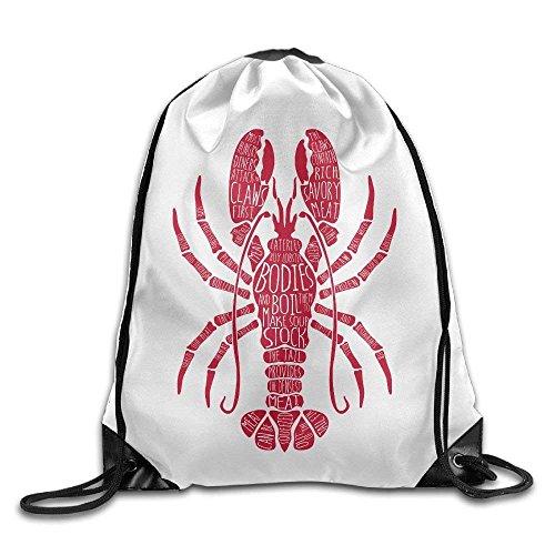 Delicious Crayfish Lobster Gym Drawstring Backpack Unisex Portable Sack Bag (Rolling Rucksack Ninja Turtle)