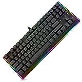 durgod Mechanical Gaming Tastatur RGB LED-Hintergrundbeleuchtung und beleuchtet Seite Licht mit Rot Cherry MX-Schalter USB Wired Kompaktes Chassis Design 87Tasten PC Computer Gamer Tastatur (schwarz)