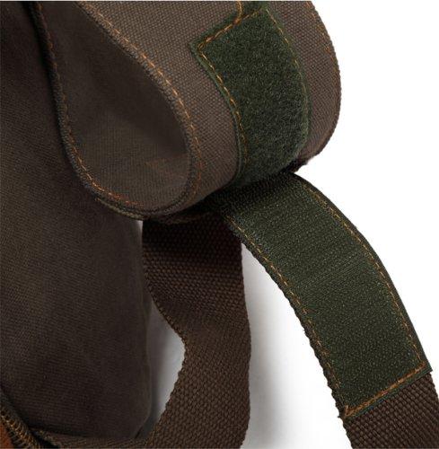 Genda 2Archer Tela Leisure Sacchetto di Duffel Viaggi bagagli Borsa per uomini e donne (Esercito verde) Esercito verde