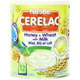 Nestle Cerelac, Honey and Wheat with Milk, 14.11 Ounce Can by Cerelac