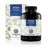 Der VERGLEICHSSIEGER 2017*: MSM Kapseln - 365 Kapseln (6 Monate). 1200 mg MSM (Methylsulphonylmethan) Pulver mit Vitamin C. Laborgeprüft, ohne Zusätze. Hochdosiert, vegan, hergestellt in Deutschland