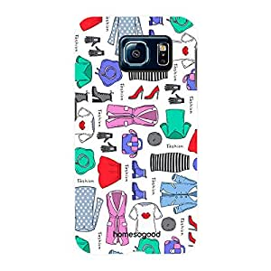 HomeSoGood Winter Clothing Pattern White For Samsung S6 ( Back Cover)