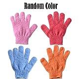Zhongke 1 Par Body Scrubbing Guante de baño Scrubs para Ducha 4 colores-1PCS-Color Aleatorio