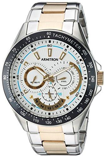 Armitron Men's 20/5197WTTT Multi-Function Dial Two-Tone Bracelet Watch