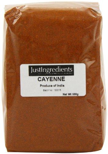JustIngredients Essential Cayennepfeffer, Cayenne Pepper, 2er Pack (2 x 500 g) -