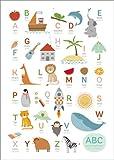 Poster 30 x 40 cm: ABC Deutsch - Englisch von Sandy Lohß - hochwertiger Kunstdruck, Kunstposter