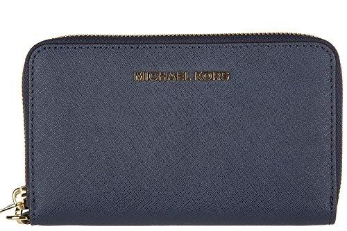 michael-kors-portafoglio-portamonete-donna-bifold-originale-jet-set-travel-blu