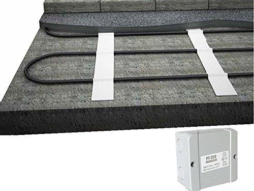 Elektro Freiflächenheizung mit Thermostat und Frostschutzregler - verhindern Sie Eisbildung im Außenbereich, nie wieder Schnee schaufeln, Fläche:7 qm Flache Schaufel