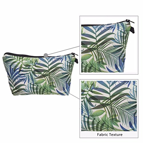 Kukubird Divertimento Nuovo Animale Foto Modello Stampa Make-up Bag Con Sacchetto Di Polvere Di Kukubird GreenPalm