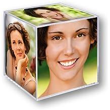 ZEP Cubo con Foto, Acrílico, Transparente, 6 Fotos de 8,5x8,