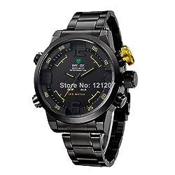 Weide Military Uhren Herren Luxus Marke Stahl Taucheruhr Quartz Multifunktion LED Display