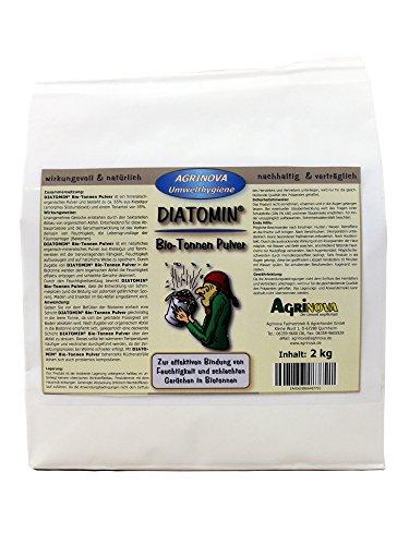 Agrinova DIATOMIN Bio-Tonnen Pulver (2 kg Beutel als Trocknungsmittel und Gegen schlechte Gerüche in Biotonnen)