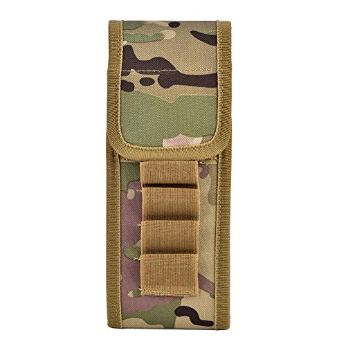 Buttstock Shotgun Shell Holder Magazin Pouch Cartridge Holder Carrier Bullet Pouch Bag, Nylon 16 Round Shell Ammo Bag Pouch Bullet Holder Fall Rifle Stock Pouch für taktisches Jagdschießen(Camouflage) -