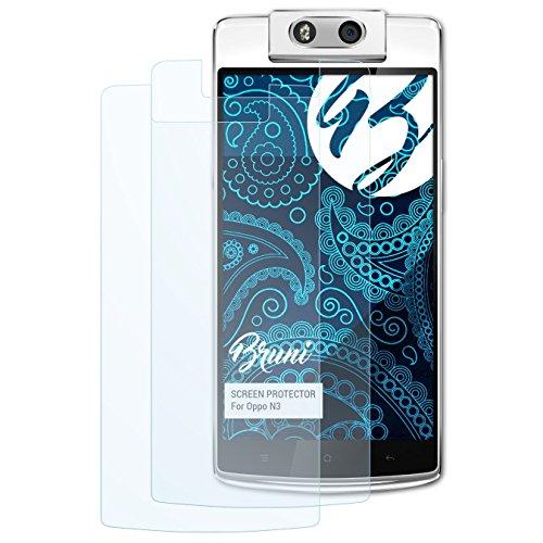 Bruni Schutzfolie kompatibel mit Oppo N3 Folie, glasklare Bildschirmschutzfolie (2X)