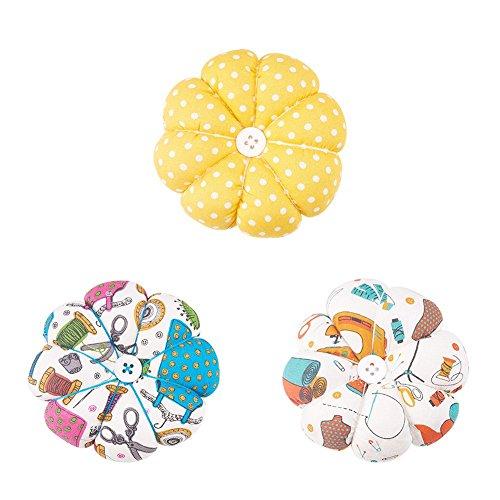 Nbeads 3pcs dell' ago pincushions polka zucca cinturino puntaspilli, colore misto