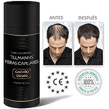 Tillmanns® Fibras Capilares Castaño Oscuro 27,5 gramos - Caida Cabello Hombre - Keratin