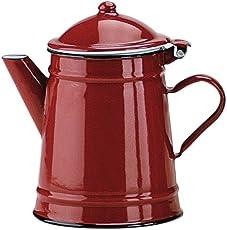 Ibili 910210 Kaffeekanne, konisch, Rot