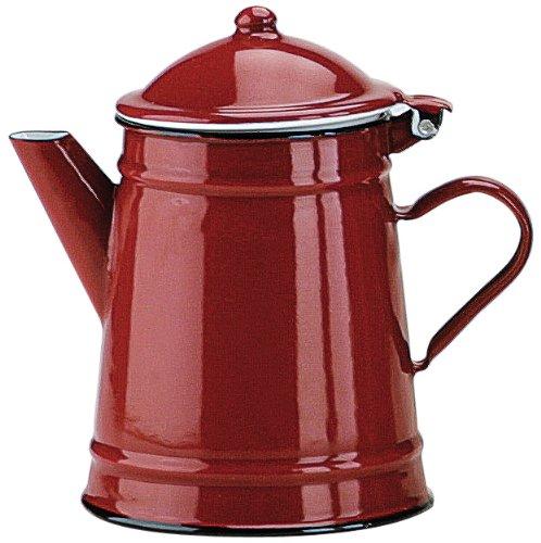 IBILI Kaffeekanne Roja konisch 1 l aus emailliertem Stahl in rot, 10 x 10 x 20 cm