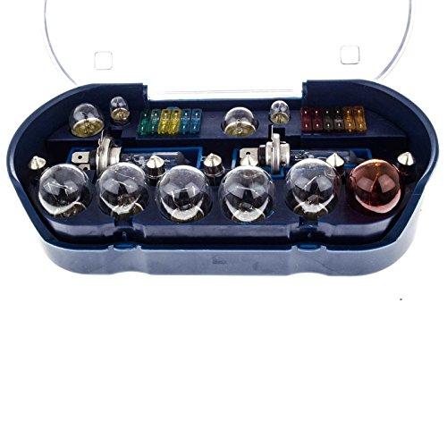 SIDCO Kfz Ersatzlampen Lampenset Autolampe H7 Box Sicherungen 30 TLG Lampen Set