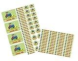 Mein Zwergenland Set Stickerbogen + 60 Namensaufkleber mit Namen Traktor