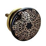 Schwarz Gold IV Keramik Türknauf, Vintage Shabby Chic Schrank Schublade Pull Griffe von G Decor