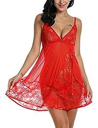 Avidlove Lencería picardia semi-transparente ropa interior para mujer
