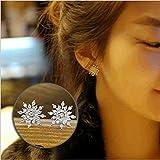 #6: ITS - Wedding Fashion Elegant Rhinestone Women Crystal Snowflake Earrings Ear Stud