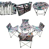 """""""Amaze"""" Folding Portable Camping Trekking Hiking Outdoor Chairs Table Set with Carry Bag- CAMOUFLAGE"""