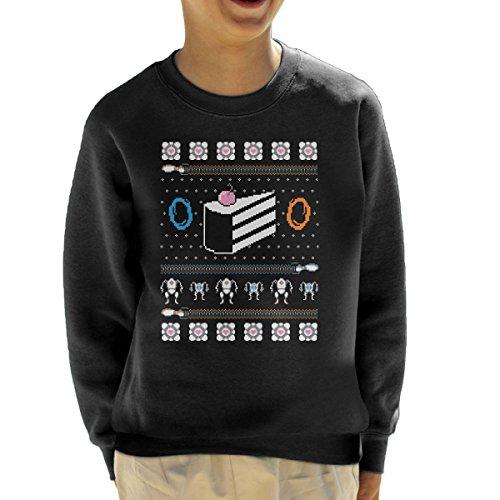 The Christmas Cake Is A Lie Portal II Kid's Sweatshirt