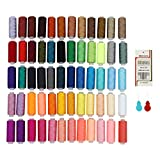 Sewing Threads SOLEDI Set of 60 Different Colors and16 Needles, High Quality Polyester Thread Excellent Thread and Sewing Kit Set