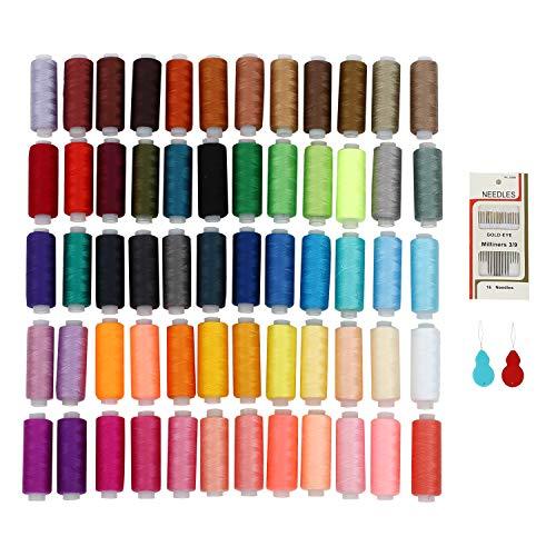 ❤¿Por qué elegir el hilo de coser SOLEDI? Materiales hechos a mano: una variedad de colores para elegir, puede hacer las artesanías manualidades coloridas. 100% de garantía de calidad: cada uno de nuestros hilos de costura ha sido cuidadosamente dise...
