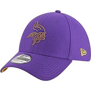 New Era NFL Minnesota Vikings Official 2018 Training 39Thirty Stretch Cap - Grau Größe M-L, Farbe Rot