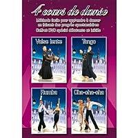 Coffret 4 cours de danses : Valse lente + Tango + Rumba + Cha-cha-cha