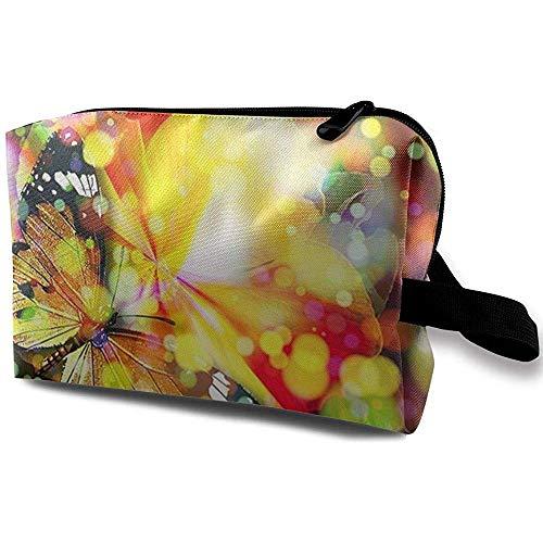 Reise-Kosmetiktasche Tragbare Handtasche Kühle Schmetterling Kulturbeutel Kleine Make-up-Taschen Fall Veranstalter -