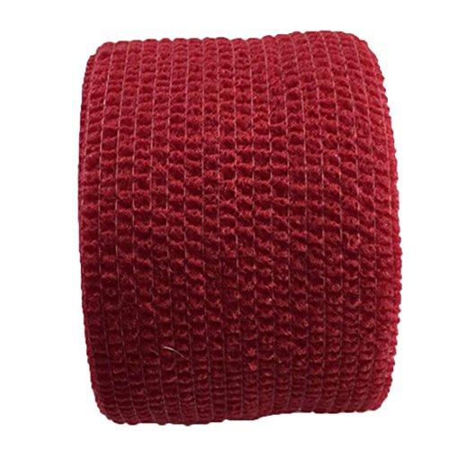 joyliveCY 5 cm * 4,5 mt Selbstklebende elastische Binde Gaze Band Medizinische Finger Muscle Ankle Care Wrap für Outdoor-Sportarten Rote Ankle Wrap