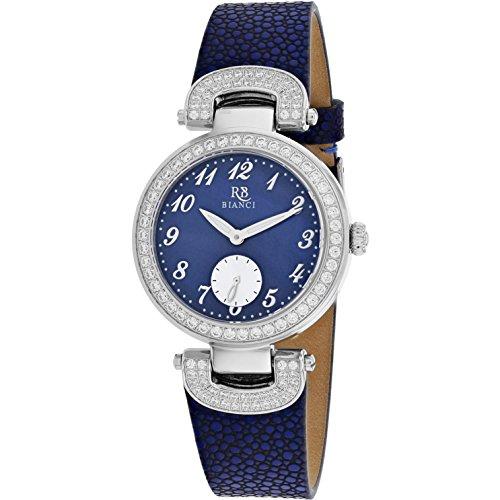 Roberto Bianci Women's Alessandra 31mm Blue Leather Band Quartz Watch RB0615