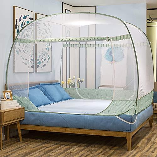 XEHbaby Pop Up Moskitonetz Zelt, Outdoor Mongolian Yurt Faltbare Doppeltür mit Anti-Moskito-Mückenstichen für Bett Camping Outdoor-Camping,200x220cm