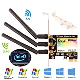 Ubit Dual Band 450Mbps WiFi Card, Wireless PCI Express Adapter Wi-Fi Adapter Network