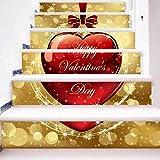 Ivo Ryan Weihnachtsdekoration Treppenaufkleber, Weihnachtstreppenaufkleber Wandaufkleber, Tapetentreppenaufkleber Treppenwandaufkleber Startseite Dekoration (Mehrfarbig-A) -