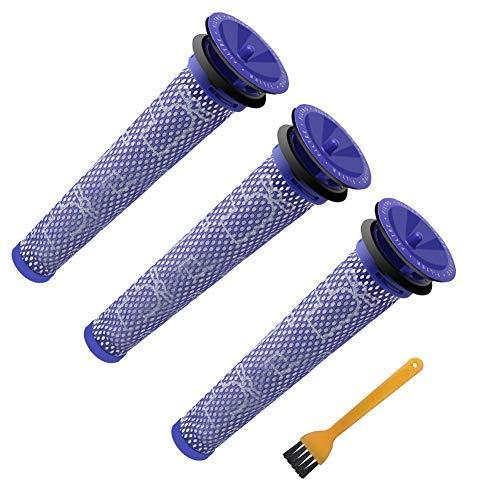 3 Stück Waschbar Pre Motor Stick Filter Zubehör für Dyson DC58 DC59 DC61 DC62 DC74 V6 V7 V8 Staubsaugerzubehör de ABC life