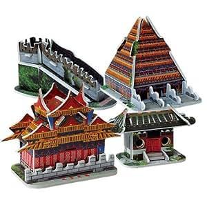SODIAL(R) Puzzle 3D Modele Jeux Jouet Educatif DIY Architecture Chine 35pcs Cadeau