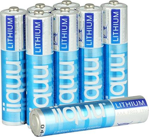 Batterien Lithium AAA Micro FR03 L92 ideal für Outdoor Einsatz: langlebig, leicht und Temperatur unempfindlich (8 Stück Vorteilspack)