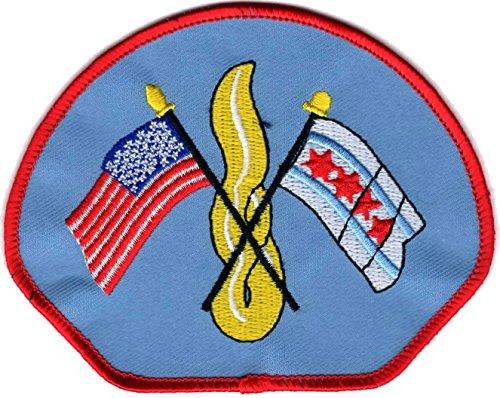 Chicago Fire Dept. city patch (Ärmelabzeichen), hellblau für FF/EMT, 11,3 x 8.8 cm - Emt-abzeichen